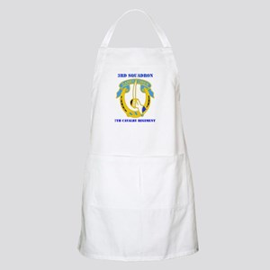 DUI - 3rd Sqdrn - 7th Cavalry Regt with Text Apron