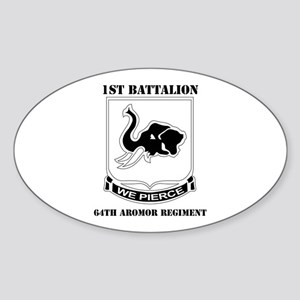 DUI - 1st Bn - 64th Armor Regt with Text Sticker (