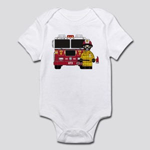 Firefighter and Fire Engine Infant Bodysuit
