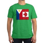 PI Flag & Canada Flag Men's Fitted T-Shirt (dark)