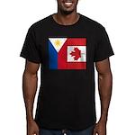 PI Flag & Canada Flag Men's Fitted T-Shirt (dark)