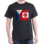 PI Flag & Canada Flag Dark T-Shirt