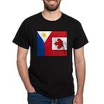 PI Flag & Canada Flag Dark T-Shirt