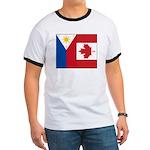 PI Flag & Canada Flag Ringer T
