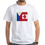 PI Flag & Canada Flag White T-Shirt