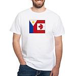 PI Flag & Canada Flag White T-Shirt