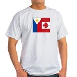 PI Flag & Canada Flag Light T-Shirt