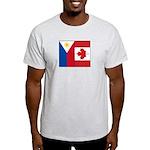 PI Flag & Canada Flag Light T-Shirt