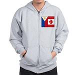 PI Flag & Canada Flag Zip Hoodie