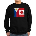 PI Flag & Canada Flag Sweatshirt (dark)