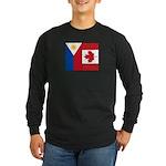 PI Flag & Canada Flag Long Sleeve Dark T-Shirt