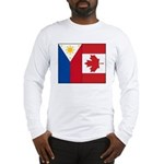 PI Flag & Canada Flag Long Sleeve T-Shirt