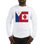PI Flag & Canada Flag Long Sleeve T-Shirt