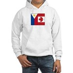 PI Flag & Canada Flag Hooded Sweatshirt