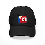 PI Flag & Canada Flag Black Cap
