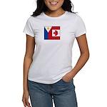 PI Flag & Canada Flag Women's T-Shirt