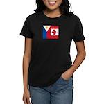PI Flag & Canada Flag Women's Dark T-Shirt