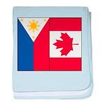 PI Flag & Canada Flag baby blanket