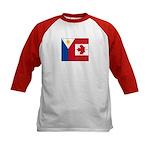 PI Flag & Canada Flag Kids Baseball Jersey