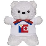 PI Flag & Canada Flag Teddy Bear
