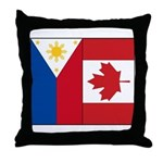 PI Flag & Canada Flag Throw Pillow