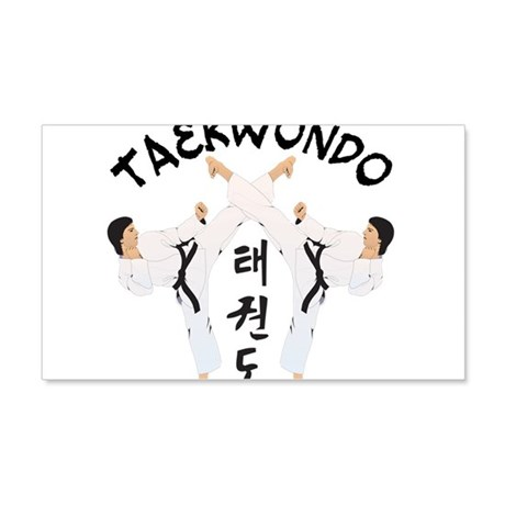 Taekwondo 22x14 Wall Peel