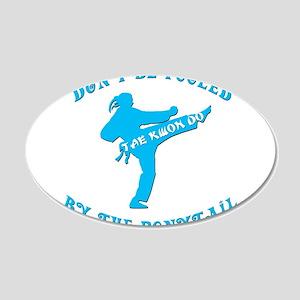 Tae Kwon Do 22x14 Oval Wall Peel