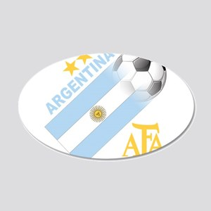 Argentina world cup soccer 22x14 Oval Wall Peel