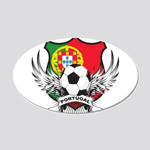 Portugal soccer 22x14 Oval Wall Peel