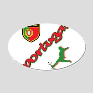 Portugal soccer 22x14 Oval Wall Peel