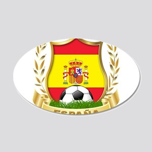 Spainish Soccer 22x14 Oval Wall Peel