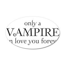 Vampire love 22x14 Oval Wall Peel