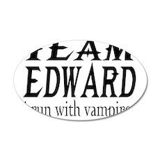 Team Edward 22x14 Oval Wall Peel