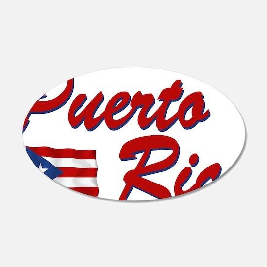 Puerto rican pride 22x14 Oval Wall Peel