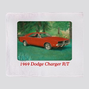 69 Red Charger Painting Throw Blanket