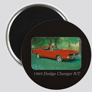 69 Red Charger Painting Magnet