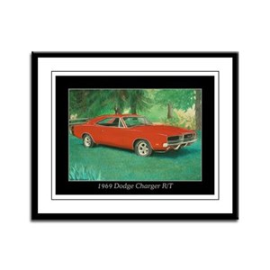 69 Red Charger Painting Framed Panel Print