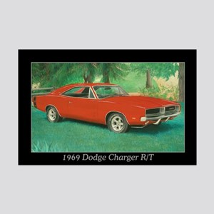 69 Red Charger Painting Mini Poster Print