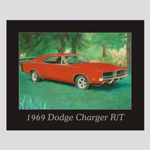 69 Red Charger Painting Small Poster