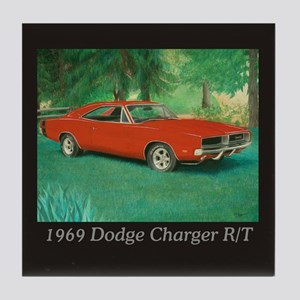 69 Red Charger Painting Tile Coaster