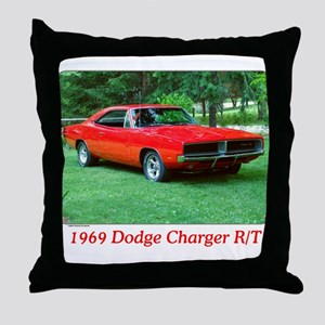 69 Red Charger Photo Throw Pillow