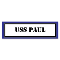 USS Paul Sticker (Bumper)