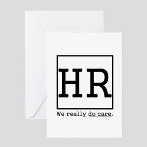we care Greeting Cards