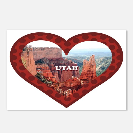 Utah: love Bryce Canyon 5 Postcards (Package of 8)