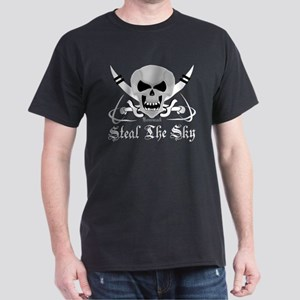 Aviation - Steal The Sky Skul Black T-Shirt