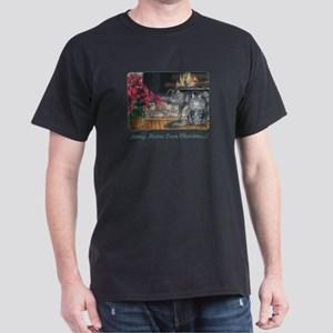 Maine Coon Cat Christmas Dark T-Shirt