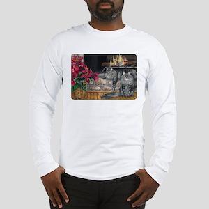 Maine Coon Cat Christmas Long Sleeve T-Shirt