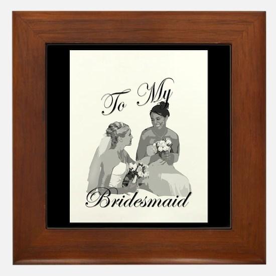 Bridesmaid Thank You #1 Framed Tile