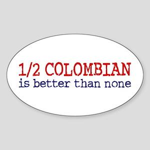 Half Colombian Sticker (Oval)