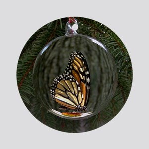 Monarch Butterfly Christmas Ornament (Round)